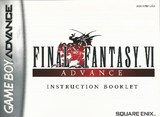 Final Fantasy VI Advance -- Manual Only (Game Boy Advance)